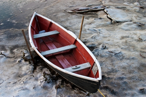 Row Boat in Ice